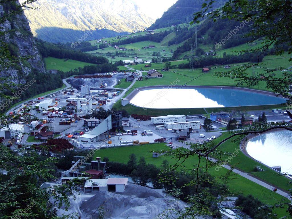 Lakes from Hydro Power Plant ARGE Kraftwerk Limmern - Canton of Glarus, Switzerland