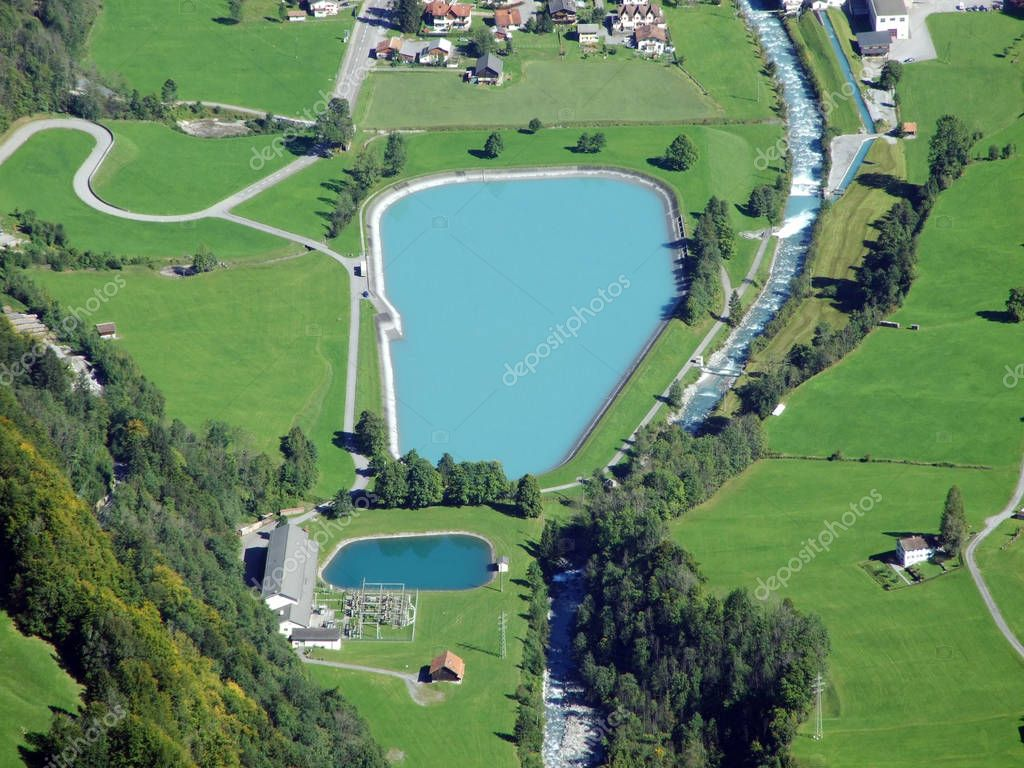 Accumulation lakes of the hydroelectric power plant Fatschbach - Canton of Glarus, Switzerland
