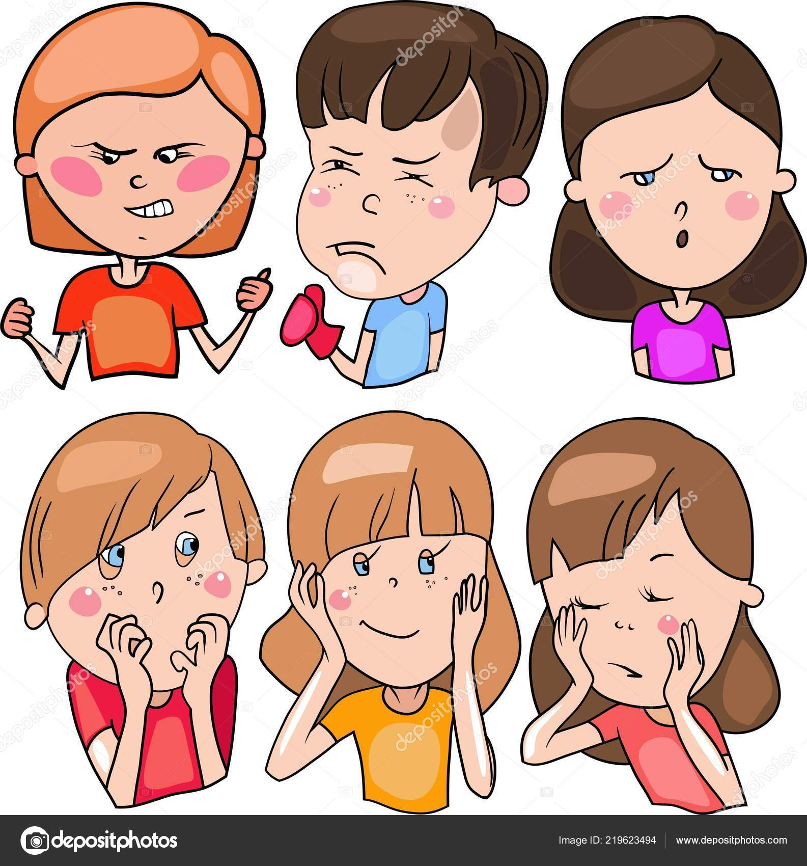 Drawings Cartoon Style Set Includes Color Drawings Vector