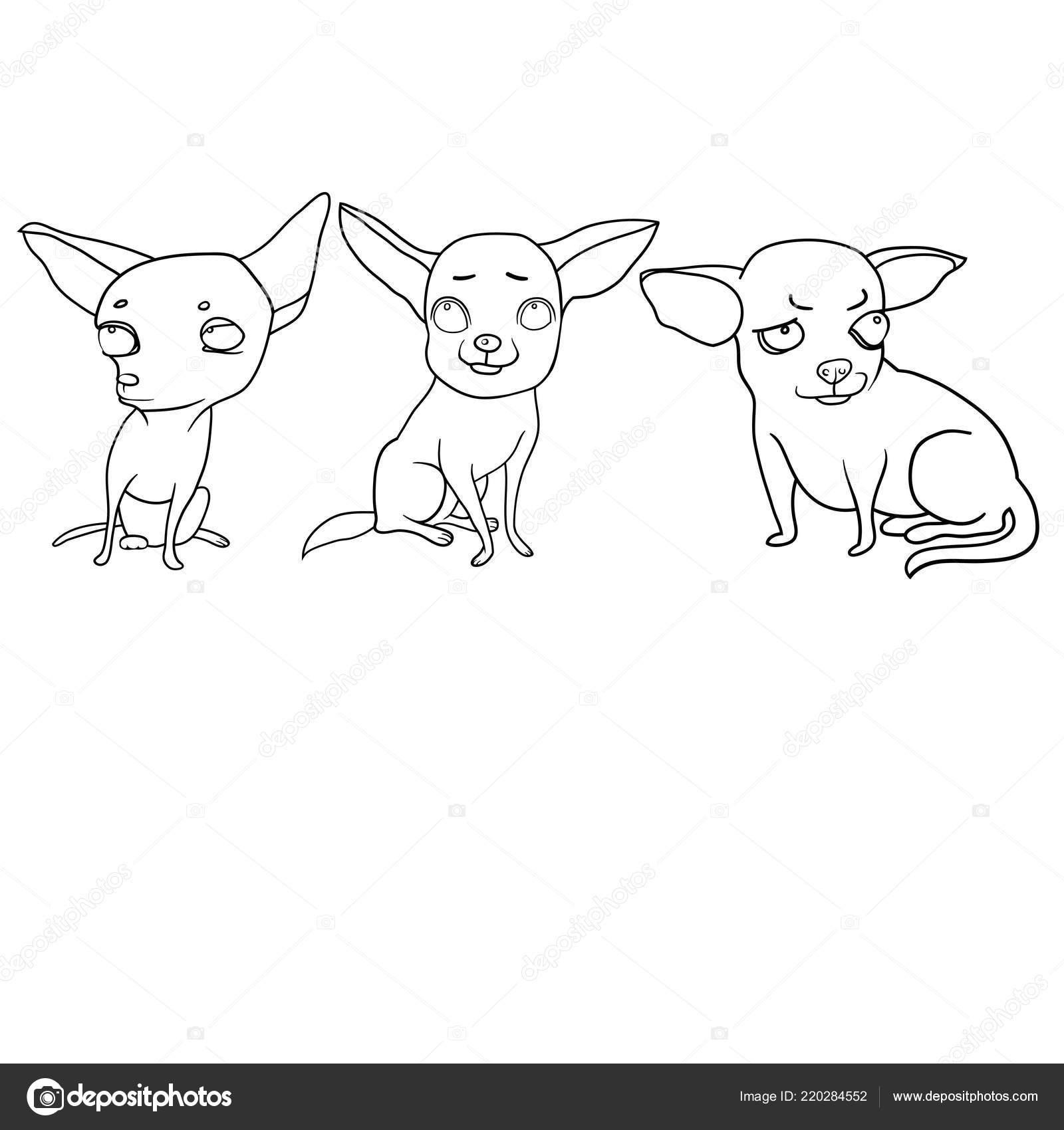 Set Disegni Vettoriali Cani Divertenti Personaggi Dei Cartoni