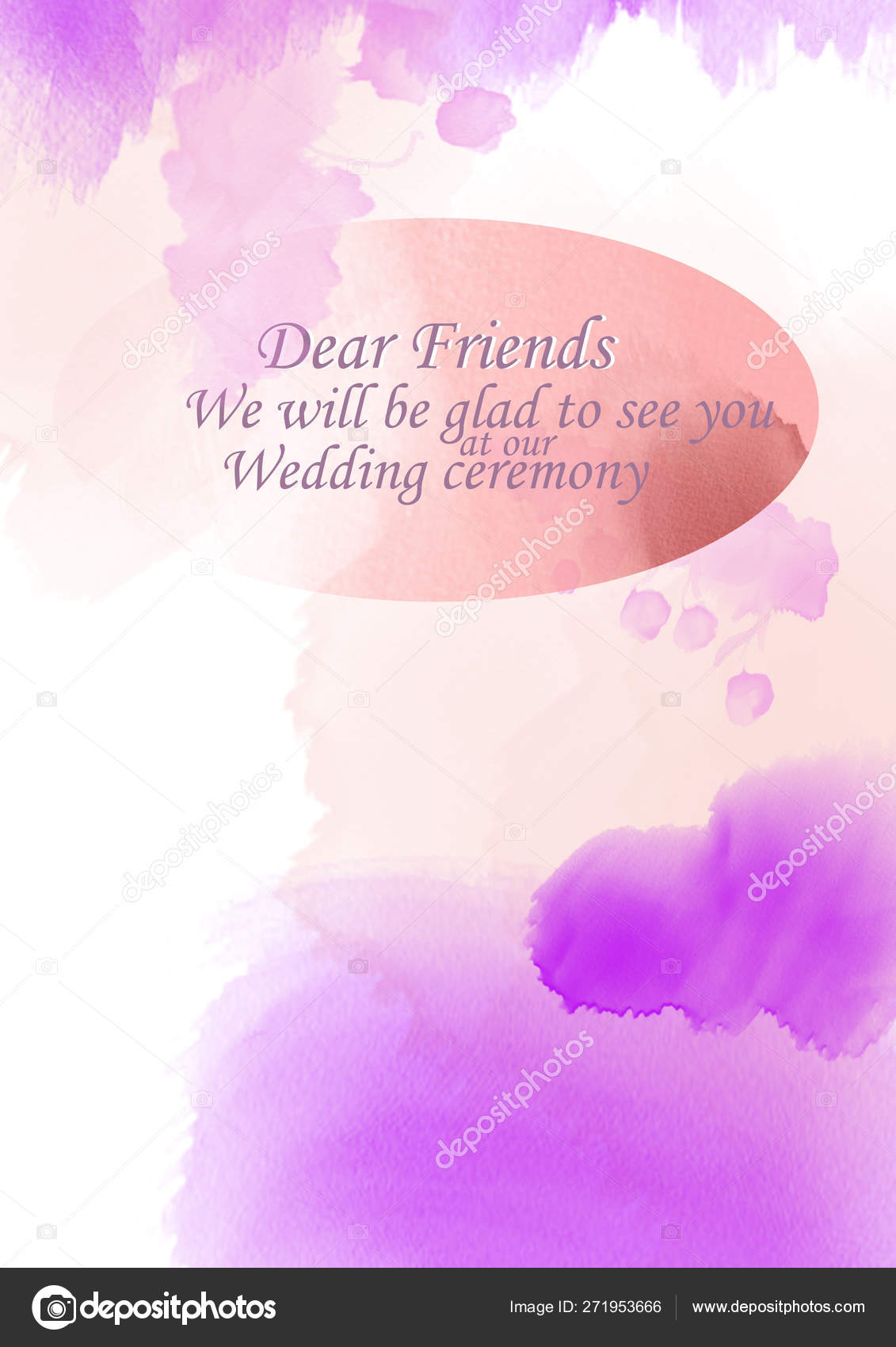 Colored Background Greeting Cards Wedding Invitation Greeting Text