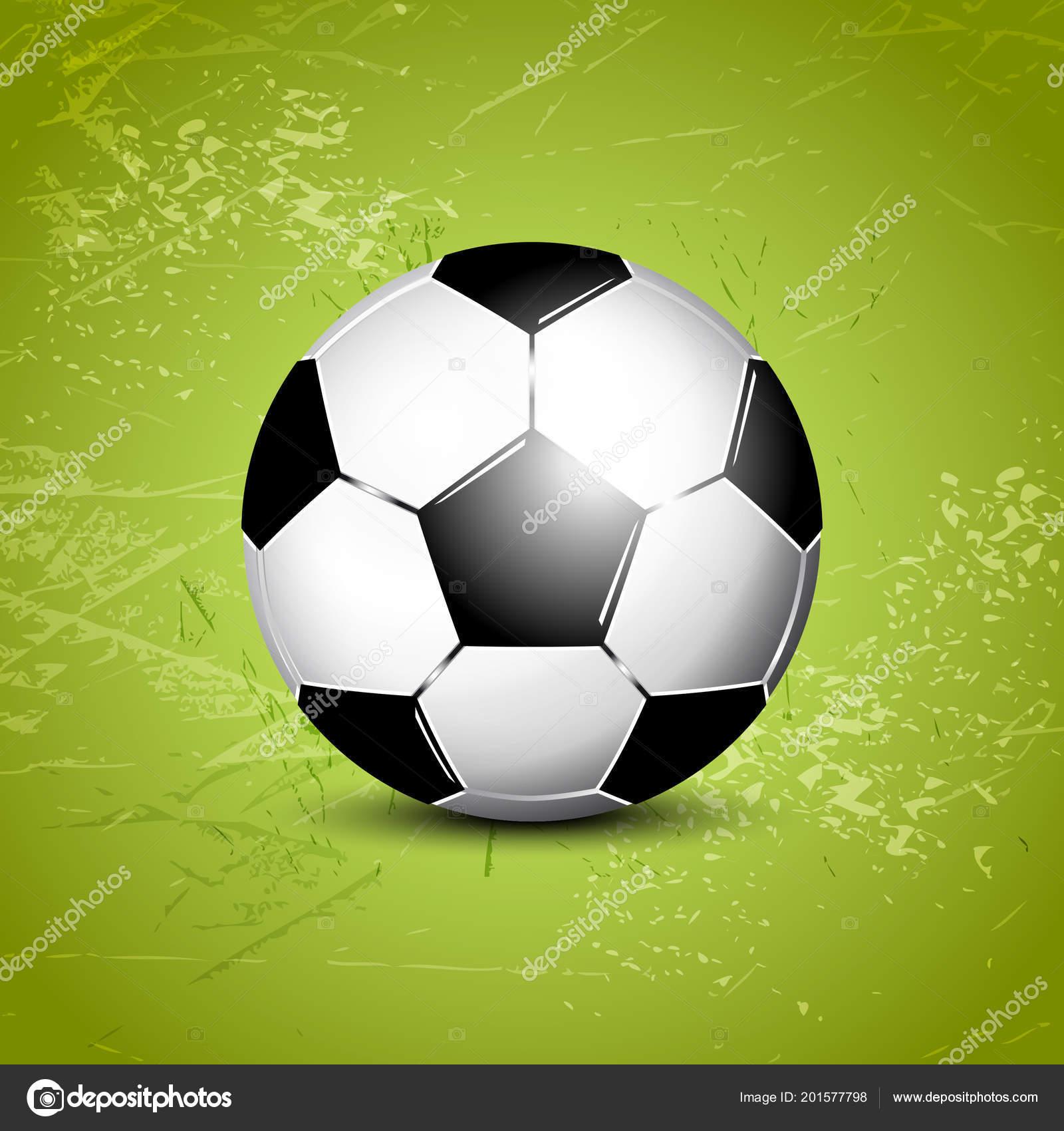 soccer ball abstract green grass field background football template