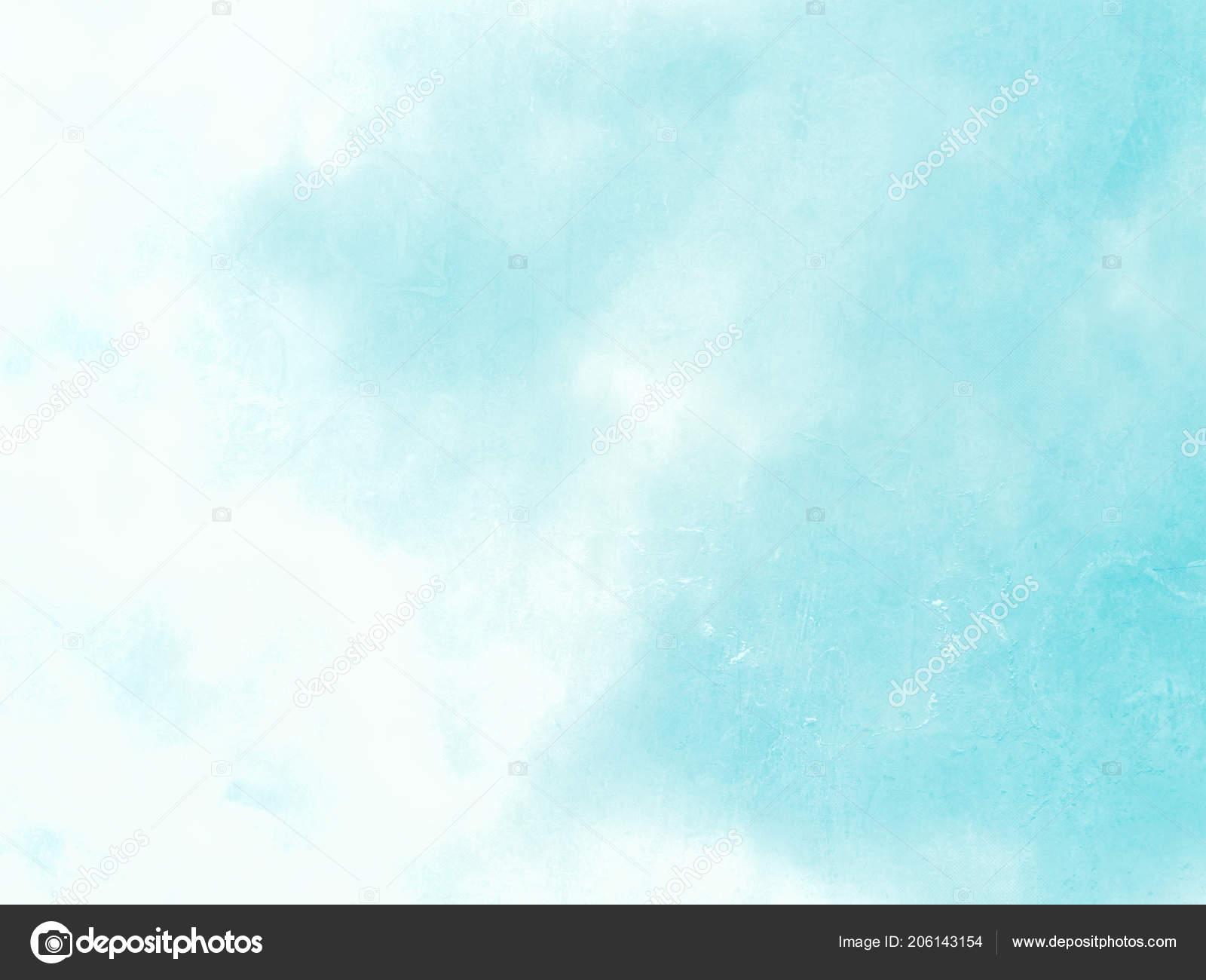Sfondo Azzurro Del Cielo Dissolvenza Stile Dell Acquerello Pastello