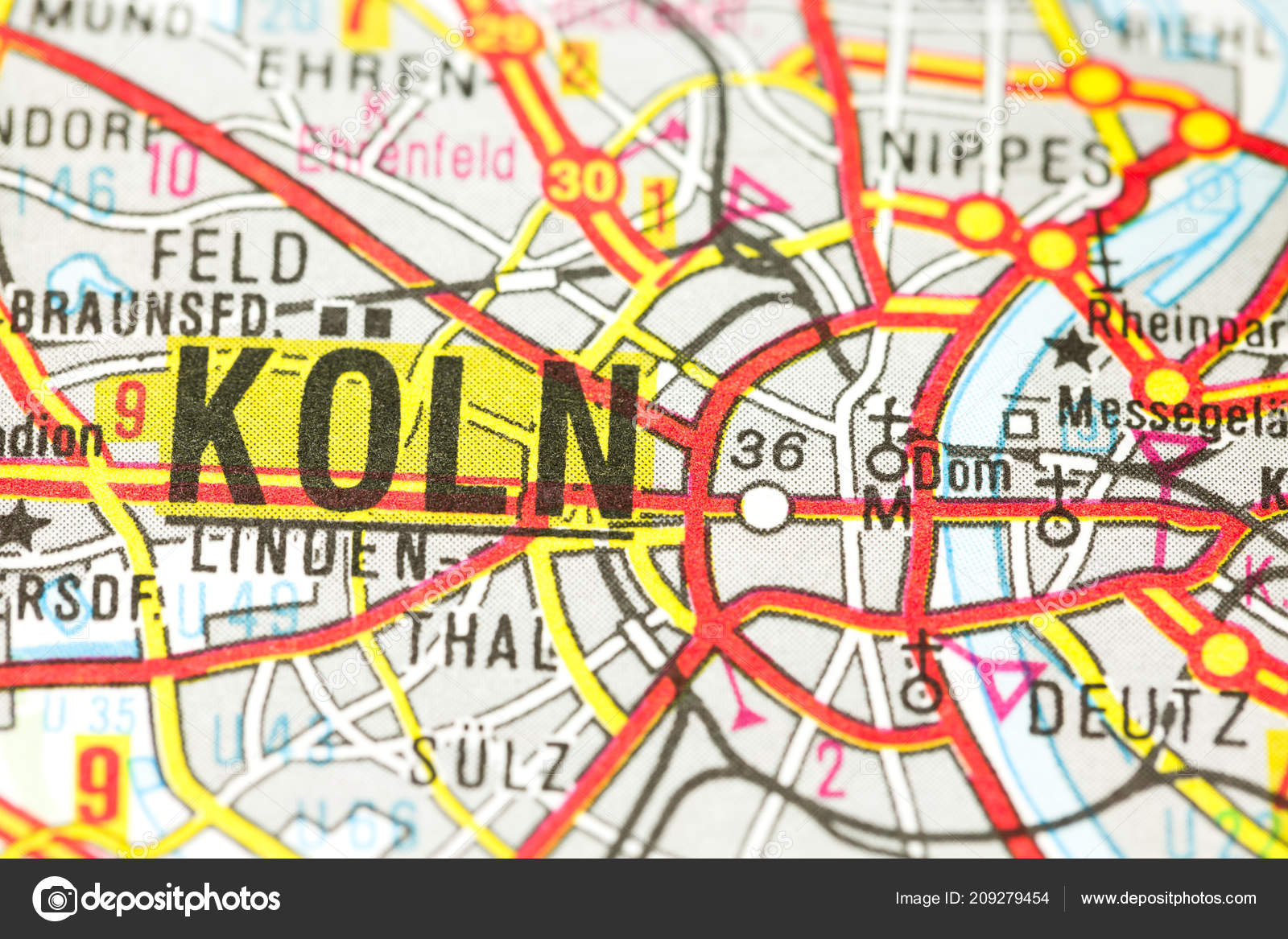 Cologne Cathedral Map Cologne North Rhine Westphalia Germany ...