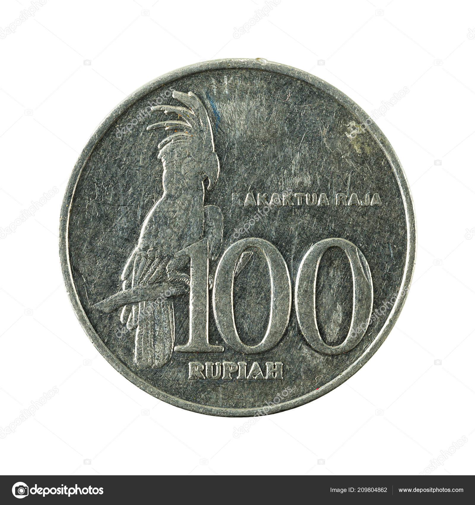 100 Indonesische Rupiah Münze 1999 Vorderseite Isoliert Auf Weißem
