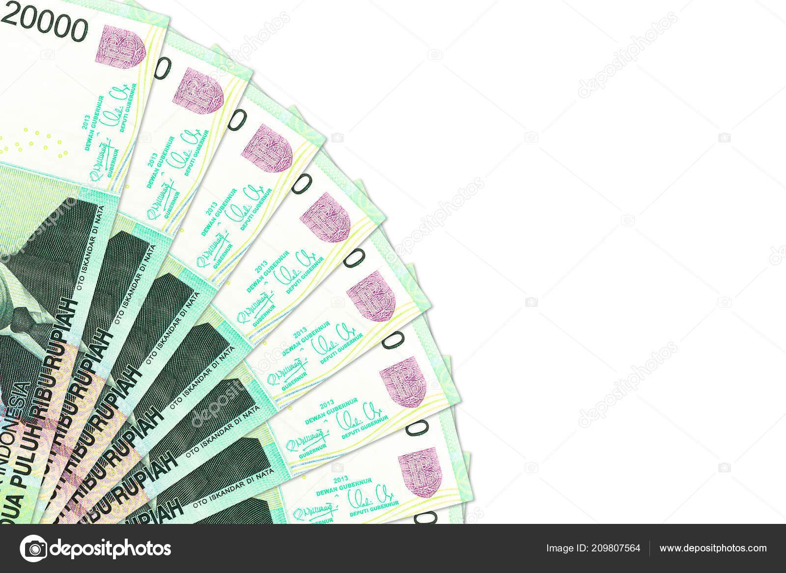 Some Indonesian Rupiah Bank Notes Copy Space — Stock Photo