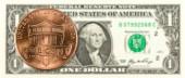 1 mince proti líci bankovky 1 nás dolar