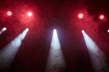 red light and smoke