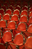 Photo rows of red chairs