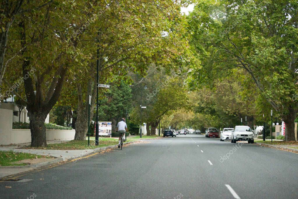 landscape of a typical street in Perth