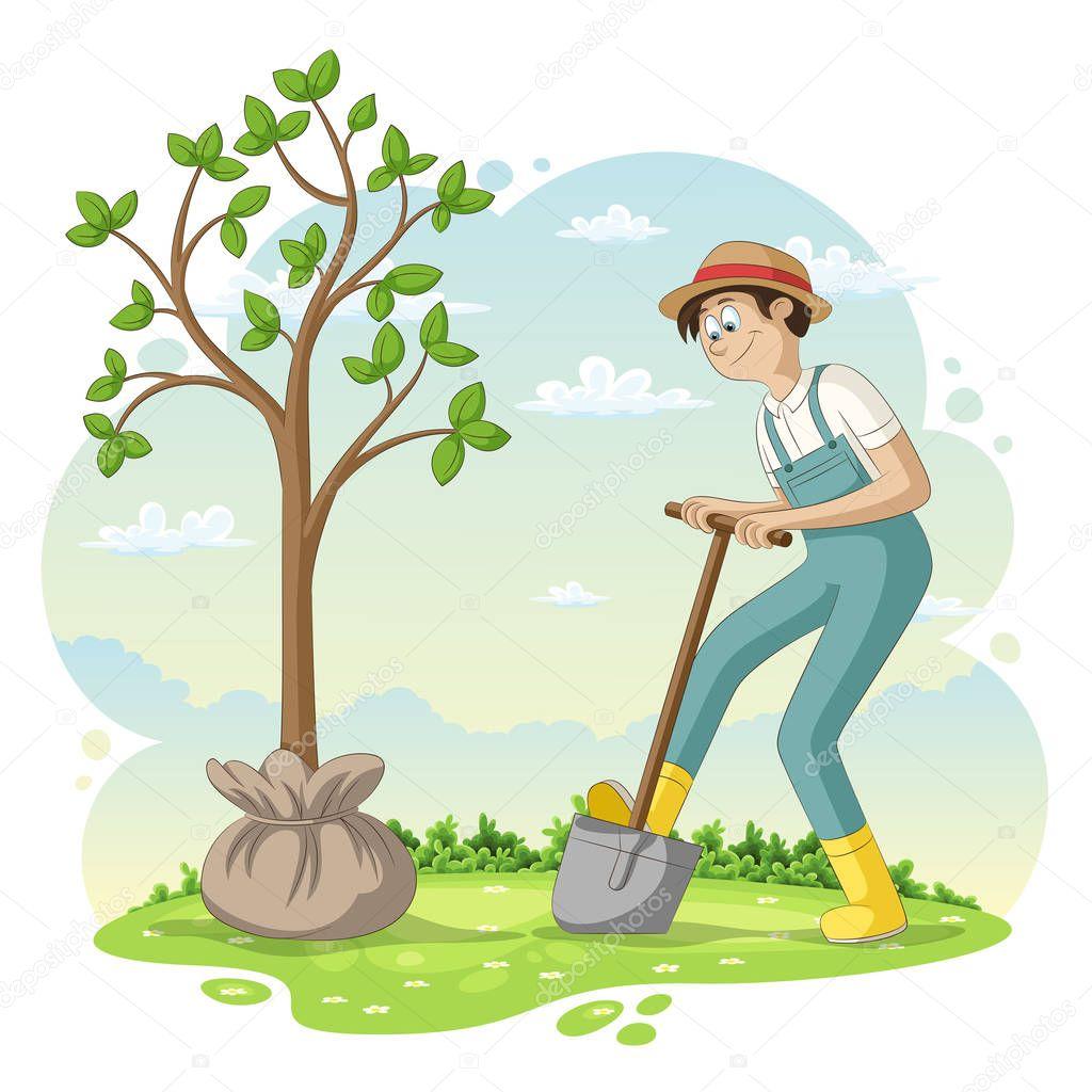 Смешные картинки посадка деревьев