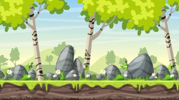 Cartoon Frühlingslandschaft