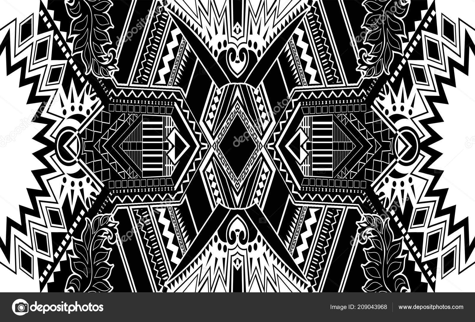 Black And White Paisley Pattern Stock Photo Grizsys 209043968
