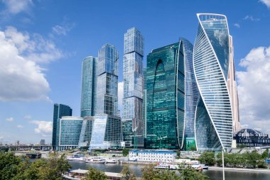 Russia Moscow 2019-06-17 Moscow City skyline. International Busi