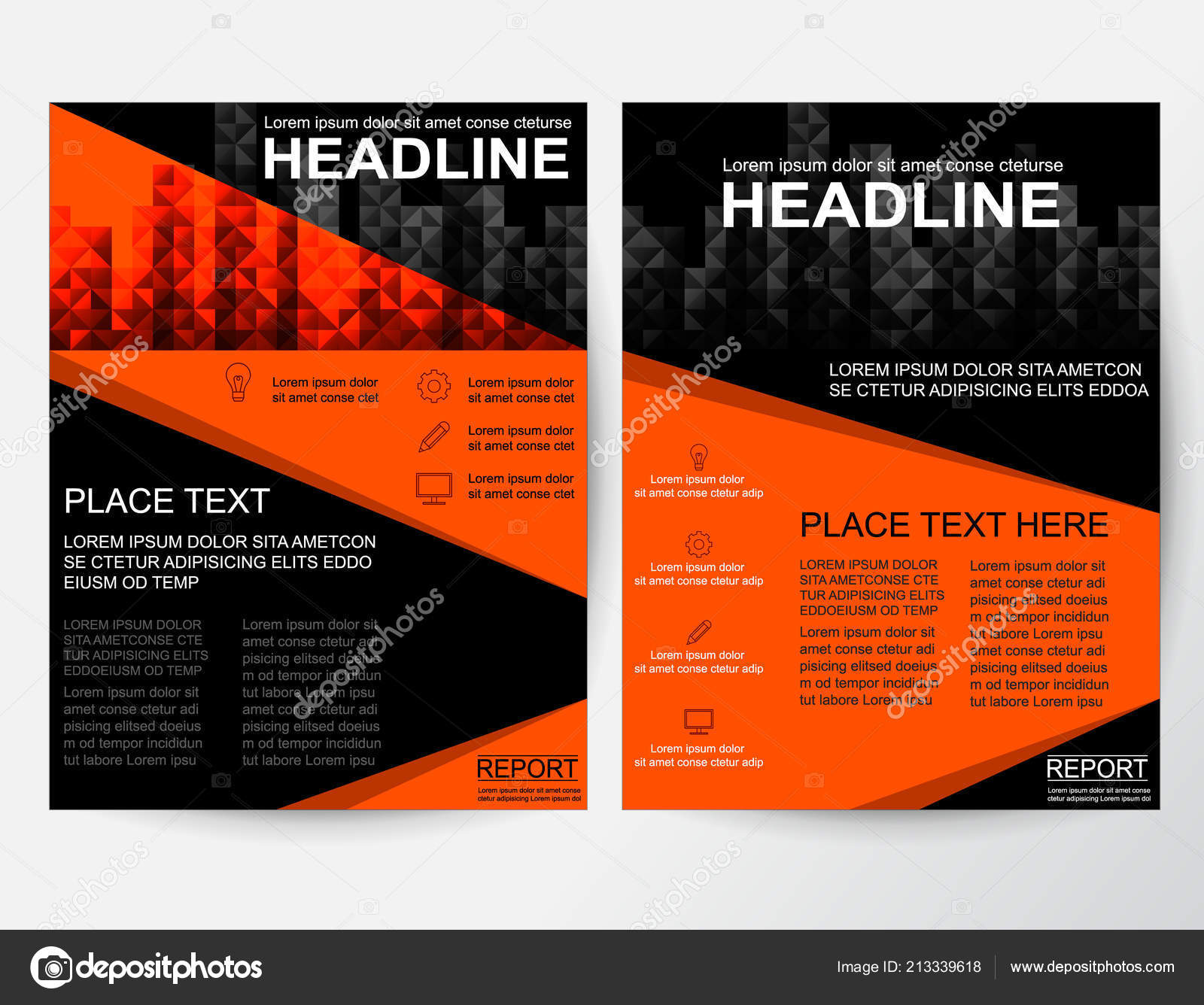 creative flyer poster banner pamphlet orange abstract design layout