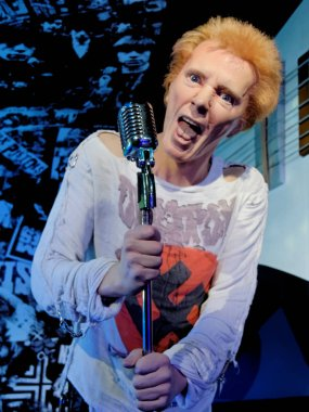 BLACKPOOL, JANUARY 14: Madame Tussauds, UK 2018. John Joseph Lydon also known by his stage name Johnny Rotten, is an English singer, songwriter and musician. British punk band the Sex Pistols.