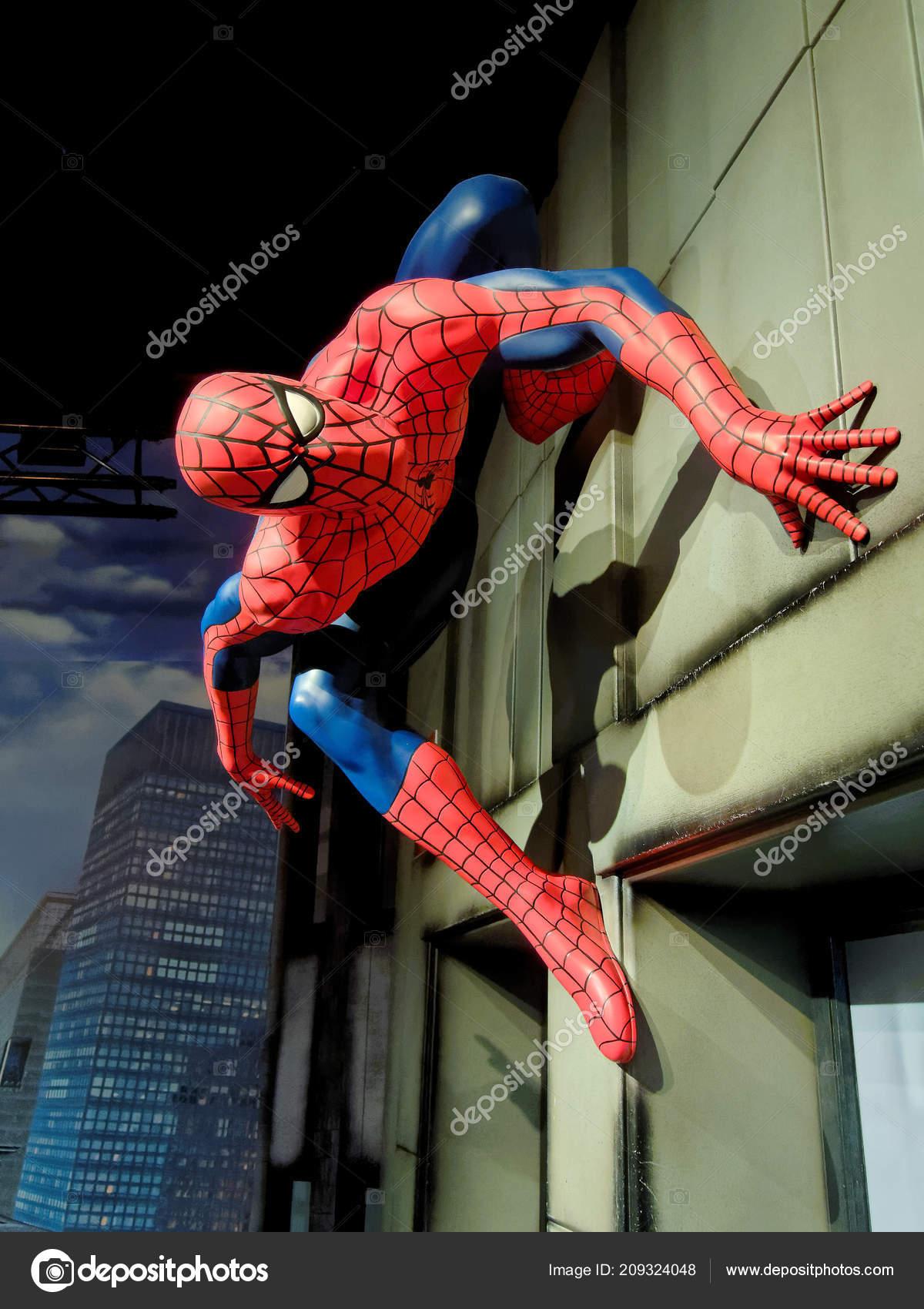 42554b818bd Αθήνα Ιανουαρίου Madame Tussauds Ηνωμένο Βασίλειο 2018 Spider Man Είναι–  Εκδοτικές Φωτογραφίες Αρχείου