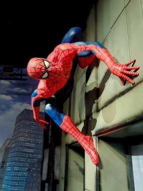 BLACKPOOL, JANUARY 14: Madame Tussauds, UK 2018. Spider-Man is a fictional superhero created by writer-editor Stan Lee and writer-artist Steve Ditko, Publisher - Marvel Comics.