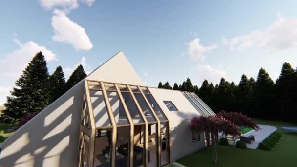 moderne skandinavische Hausfassade
