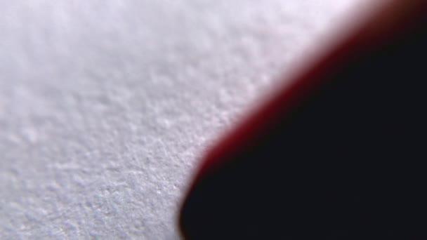 red white graphic close up macro