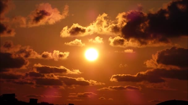 Video of The sun setting
