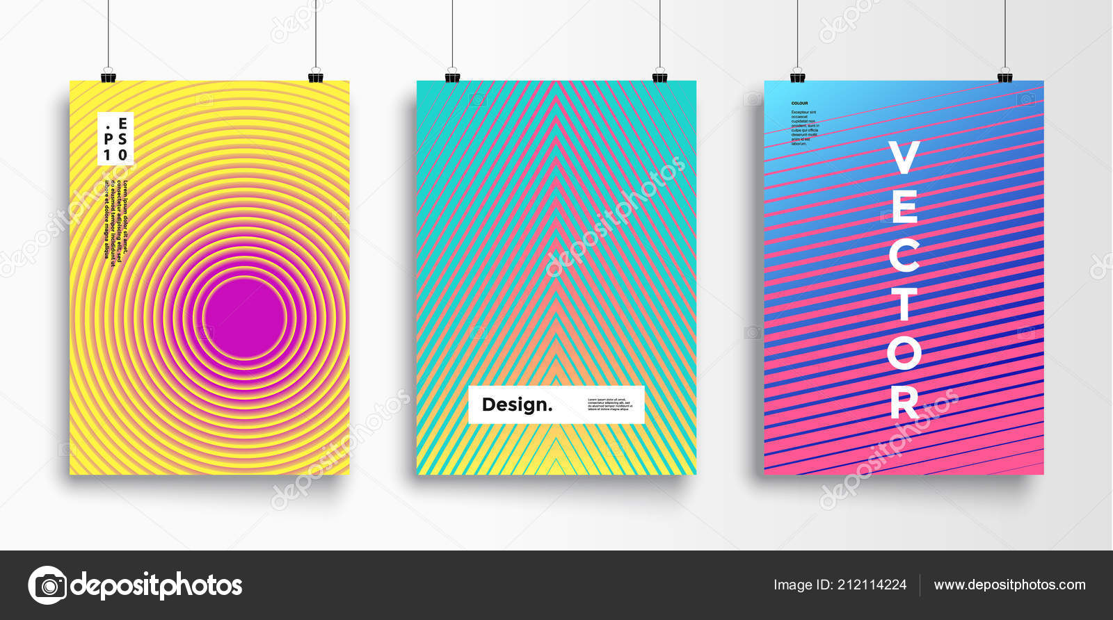poster flat geometric pattern cool colorful backgrounds applicable