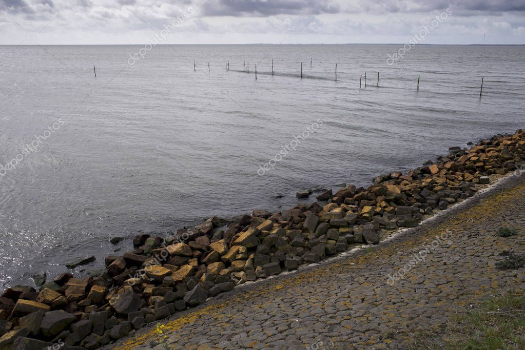 The Afsluitdijk dam, masterwork of Dutch engineers  was built constructed between 1927 and 1932