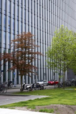 AMSTERDAM, THE NETHERLANDS, 16 May 2017 - Panorama image of the business center of South Amsterdam