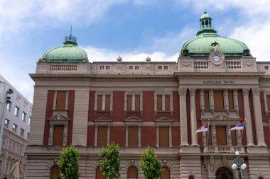 Belgrade, Serbia - Jun 15, 2020: National Museum of Serbia at Republic Square