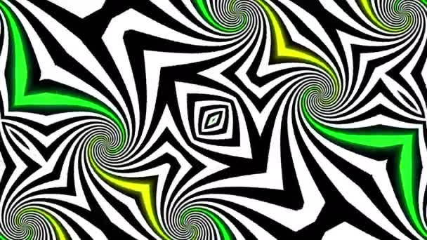 Abstract Psychedelic Illusion Kaleidoscope Black And White Lines Background Ultra Hd 4k 3840x2160 Looping