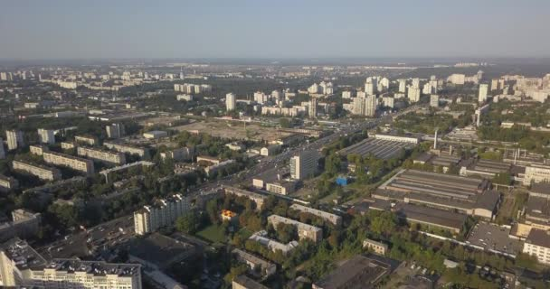 Vzdušný záběr: Krásné malé vesnice nebo město 4k 4096 x 2160 pixelů
