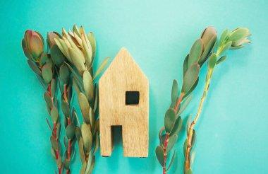 """Картина, постер, плакат, фотообои """"экологическое дружественное понятие дома."""", артикул 308491882"""