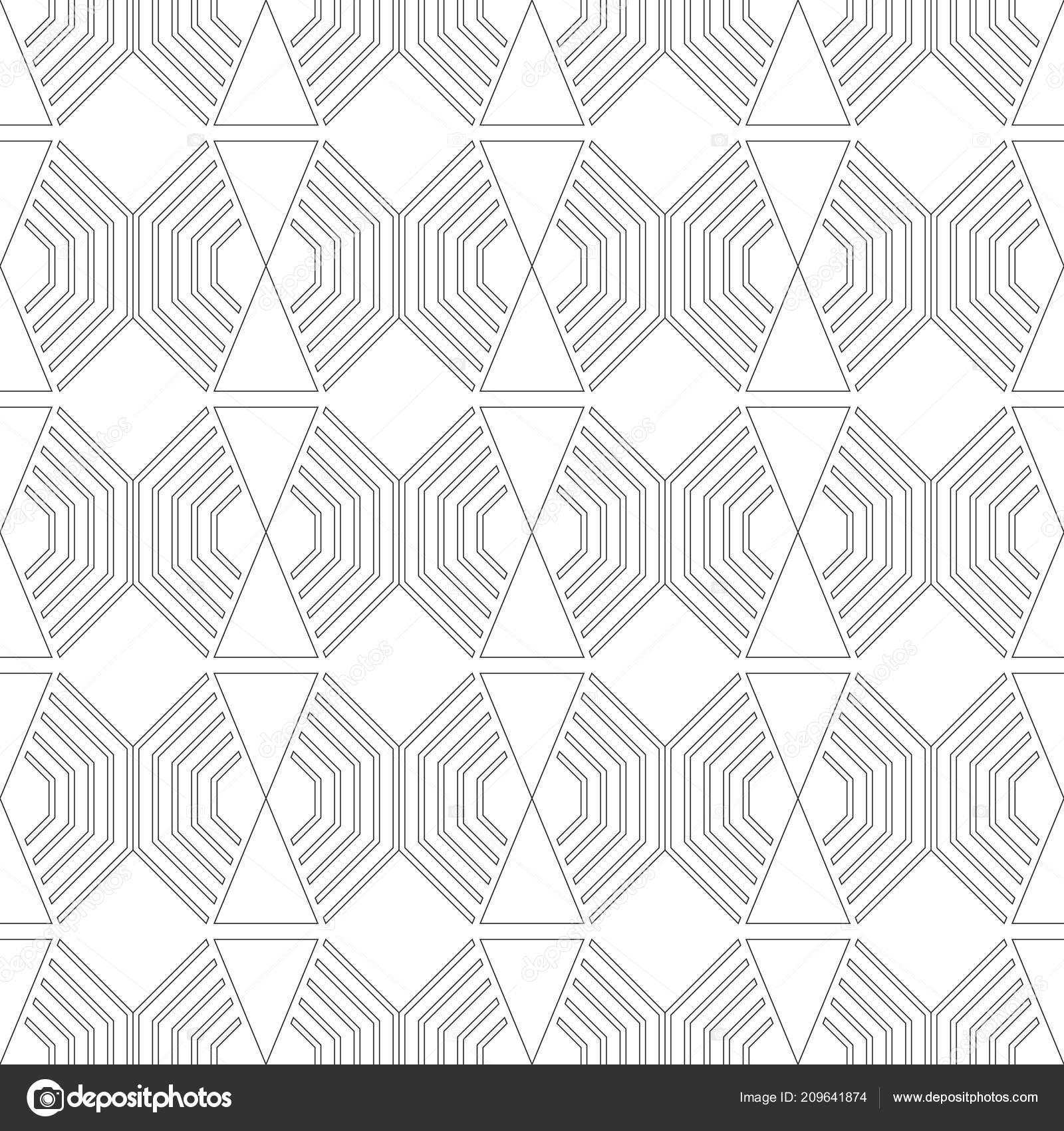 Preto Branco Padrao Geometrico Sem Costura Para Colorir Livro