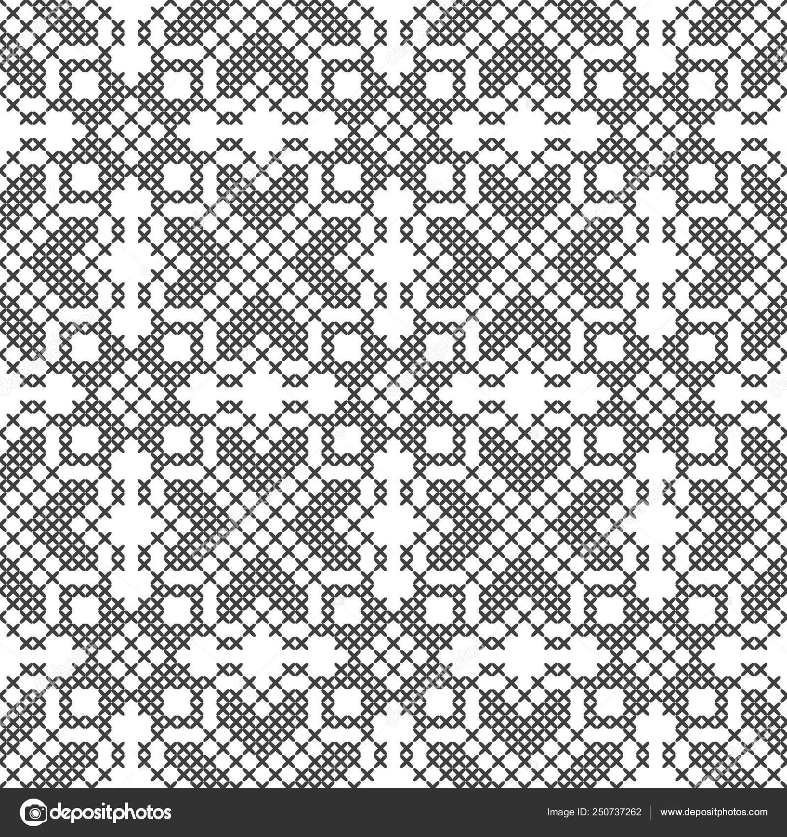 вышивка крестом бесшовный фон черный и белый вышивка вязание