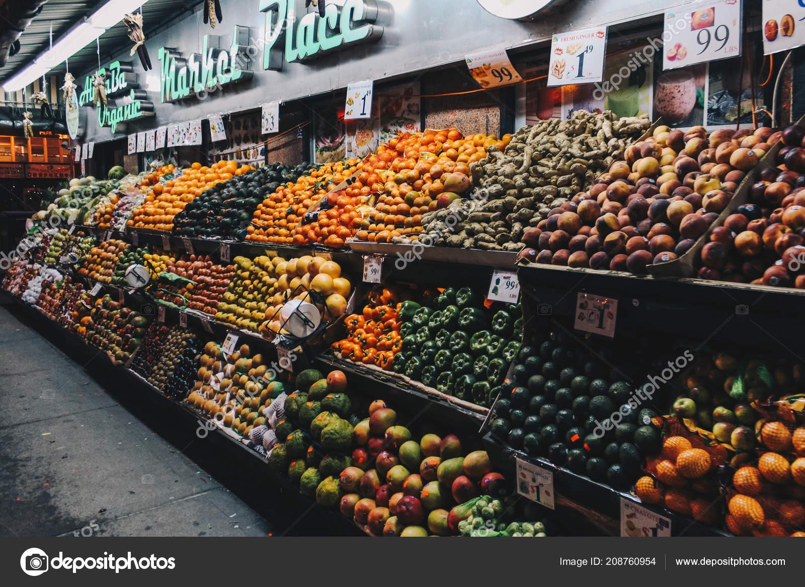 Produce Market Chinatown Nyc Stock Photo C Cranford Brandon Gmail Com 208760954