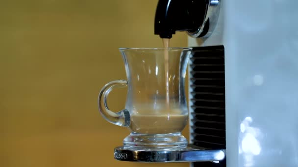 Coffee Machine Pouring Espresso In Cup