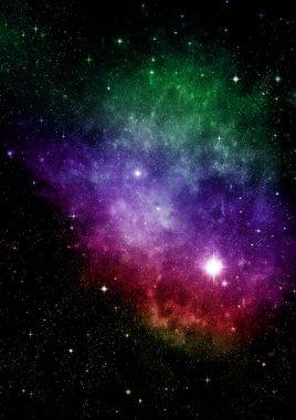 """Картина, постер, плакат, фотообои """"Звёзды, планеты и галактики в свободном пространстве элементы этого изображения, представленной НАСА"""", артикул 206718778"""