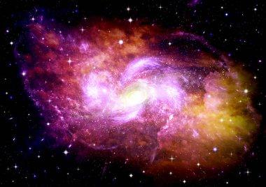 "Картина, постер, плакат, фотообои ""Галактика в свободном пространстве"", артикул 222868482"