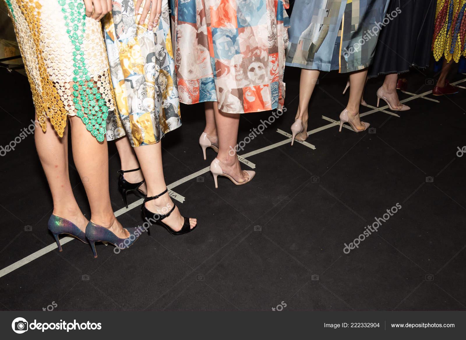 Milan Italy September Detail Shoes