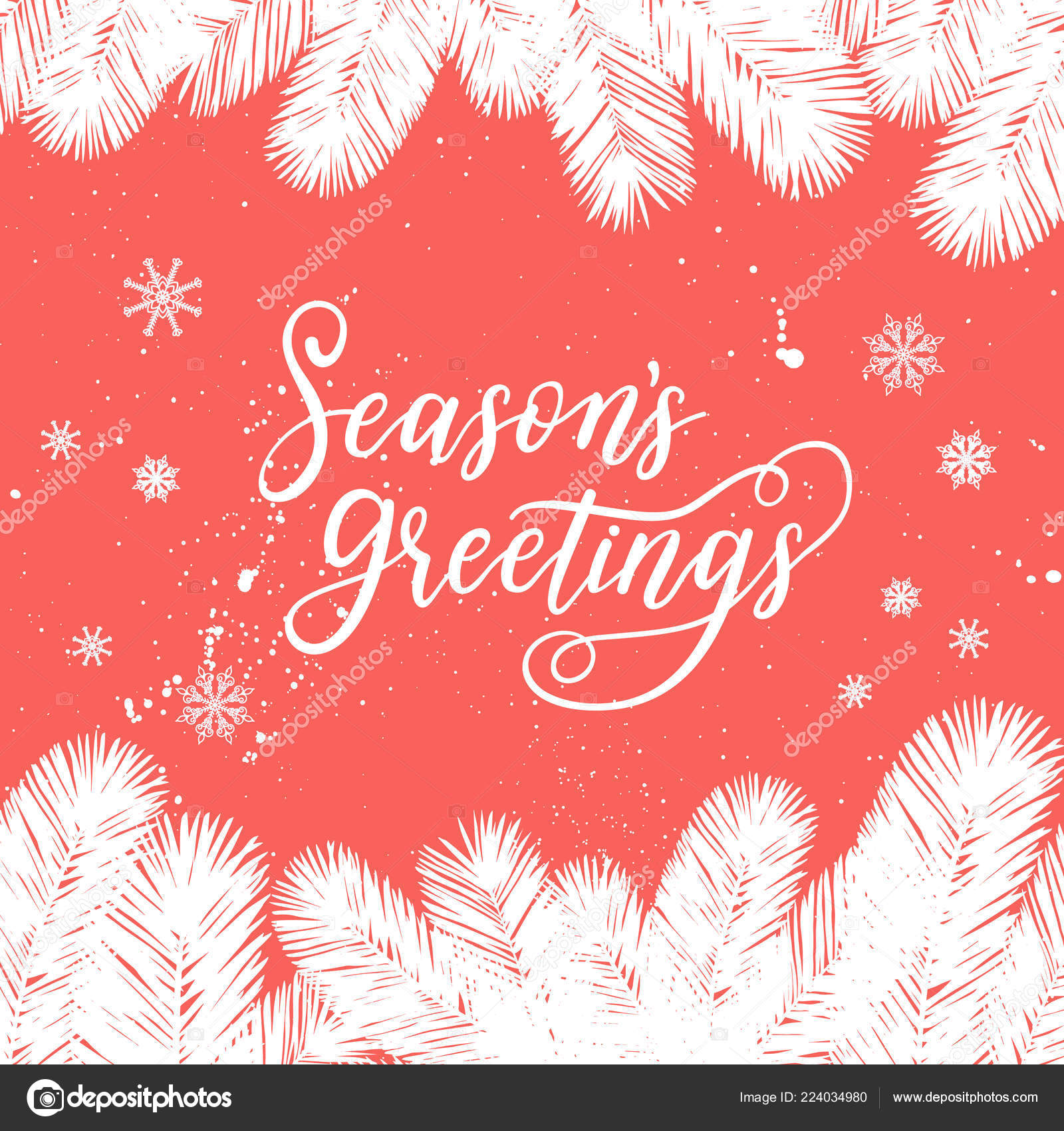 season greetings card new year 2017 vector winter holiday background stock vector