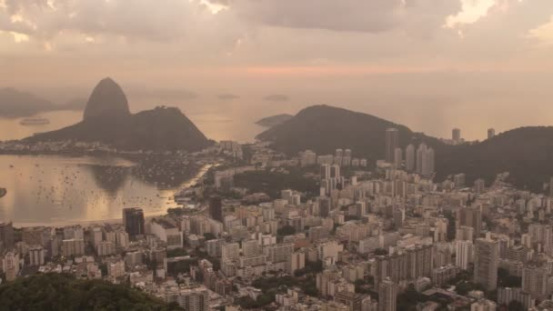 Time lapse of the sunrise in Botafogo Bay and Sugar Loaf in Rio de Janeiro Brazil