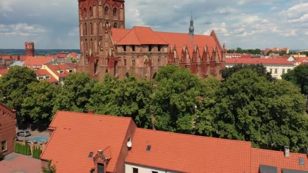 Aerial view of a Gothic Church in Europe