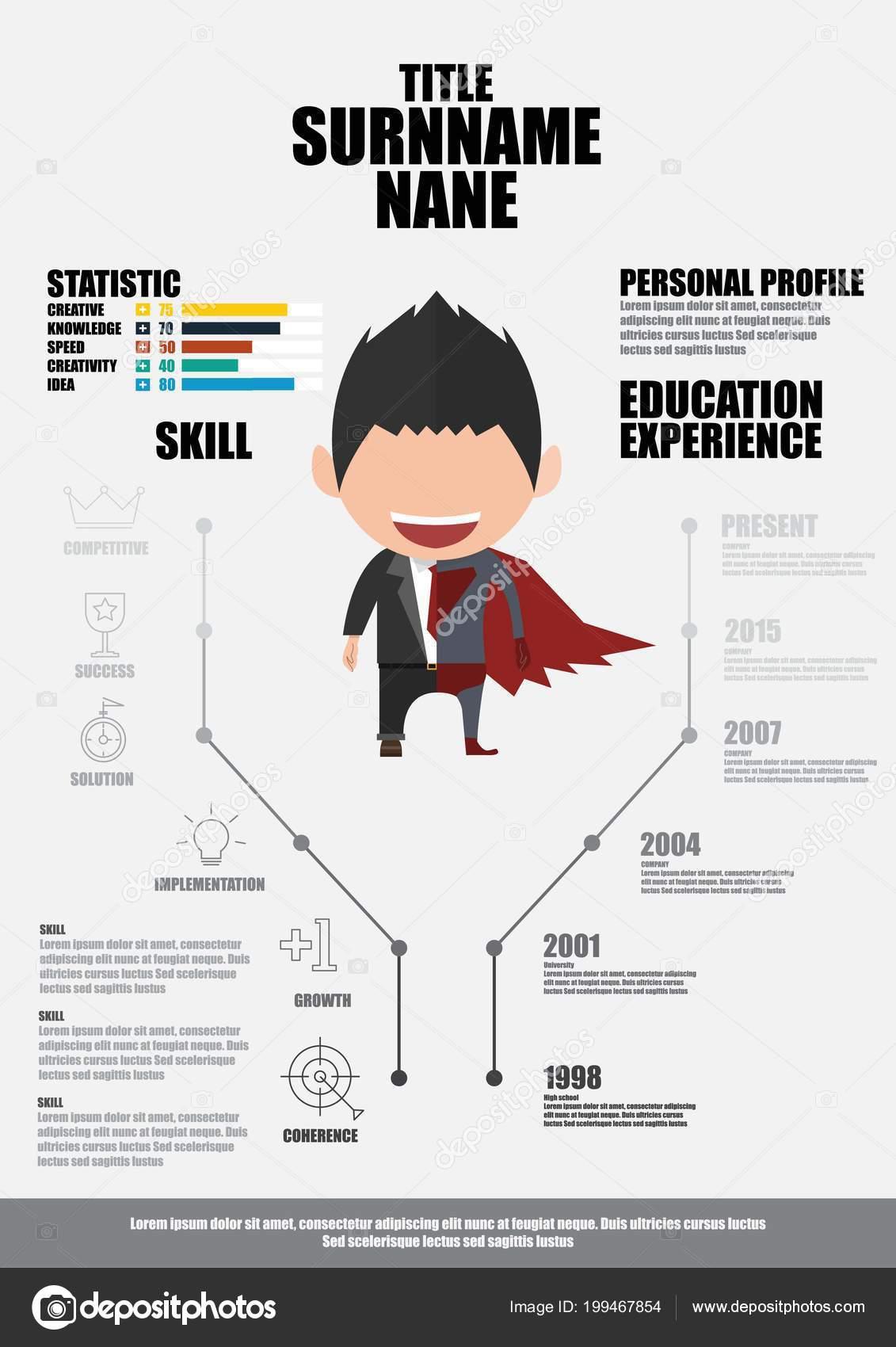 Flat Resume Infographics Vector Photoraidz