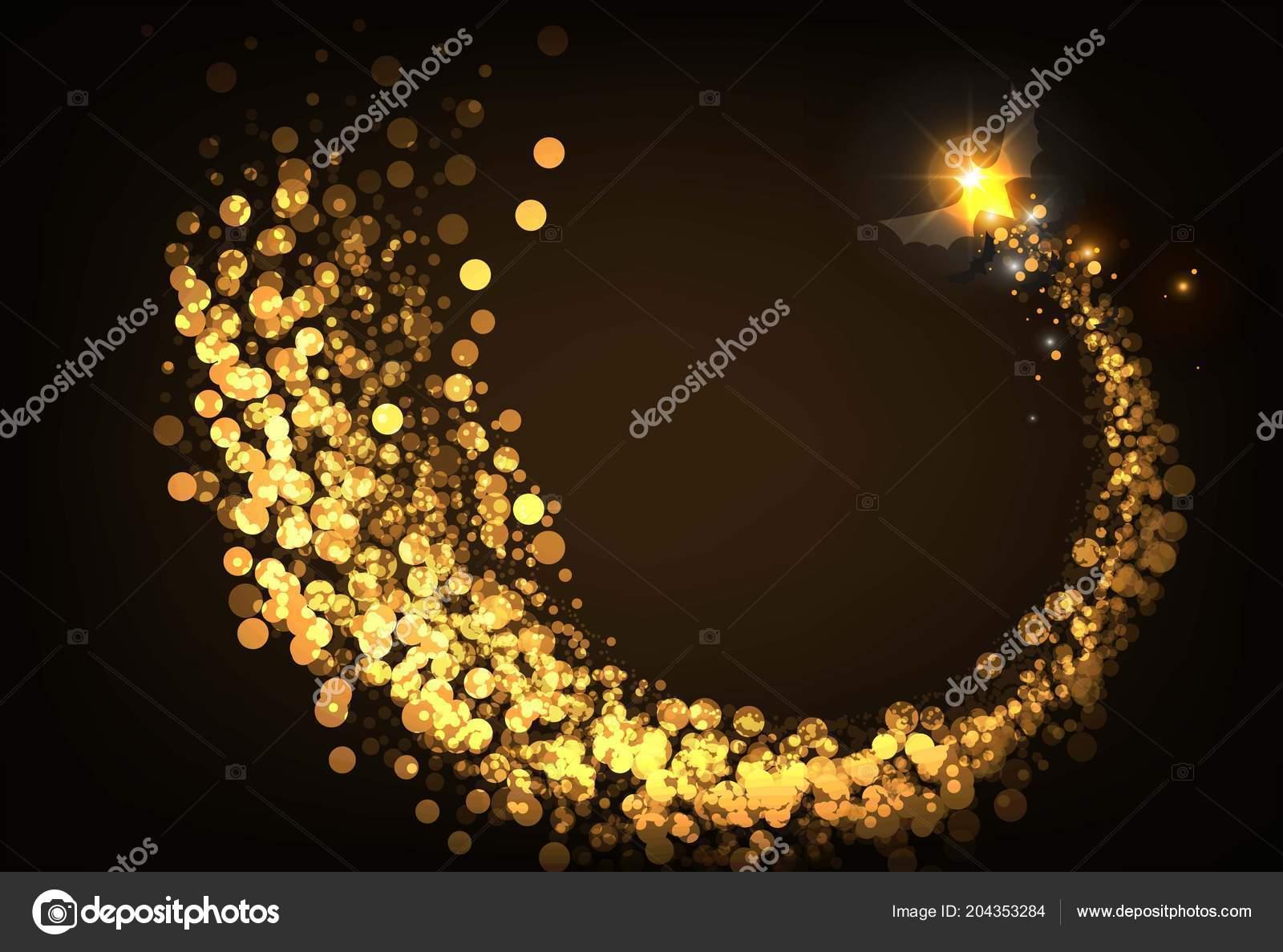 Pipistrello halloween color oro illuminazione vettore u vettoriali