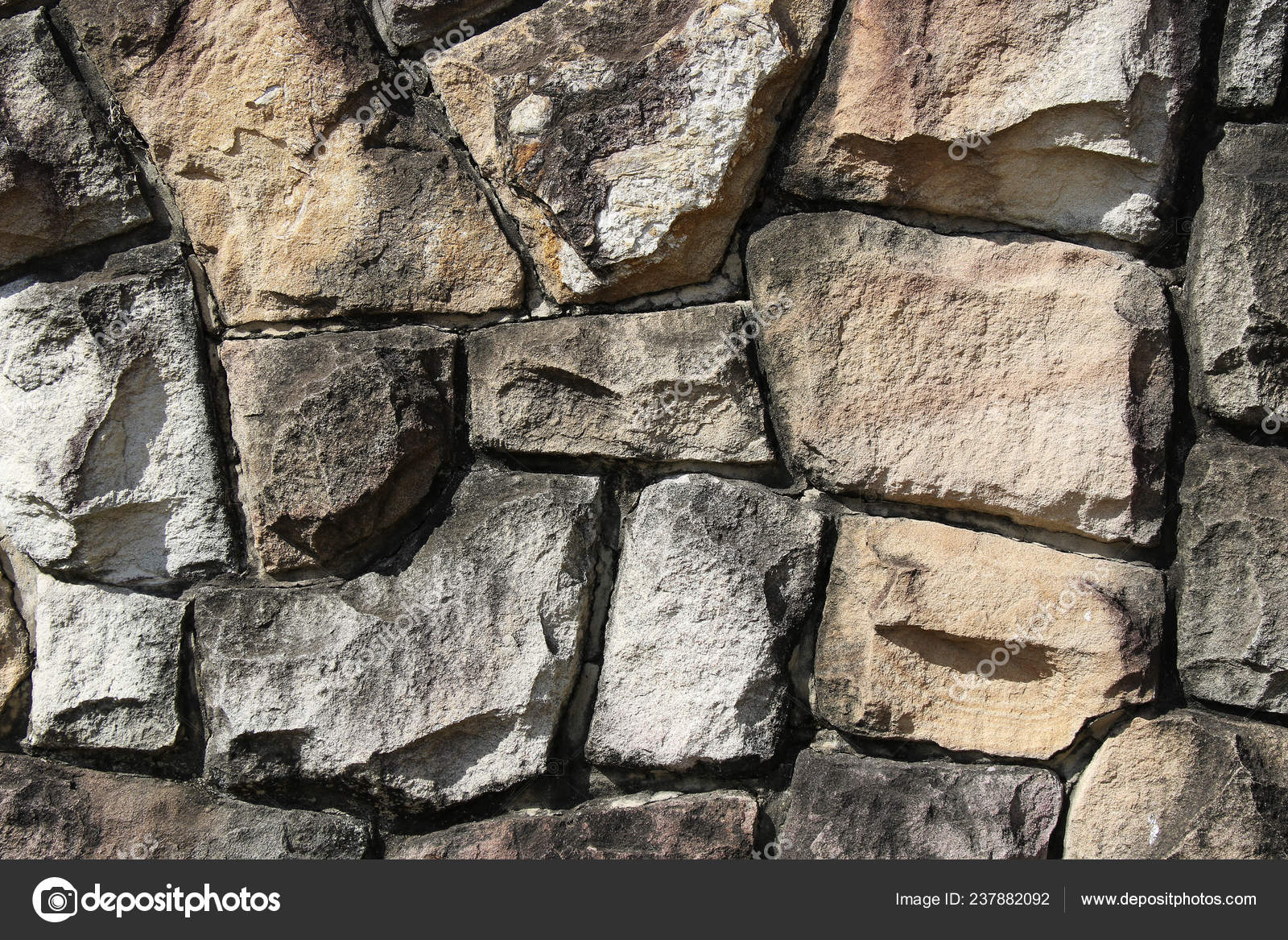 Neatly Stacked Rough Cut Stone Wall Seamless Texture
