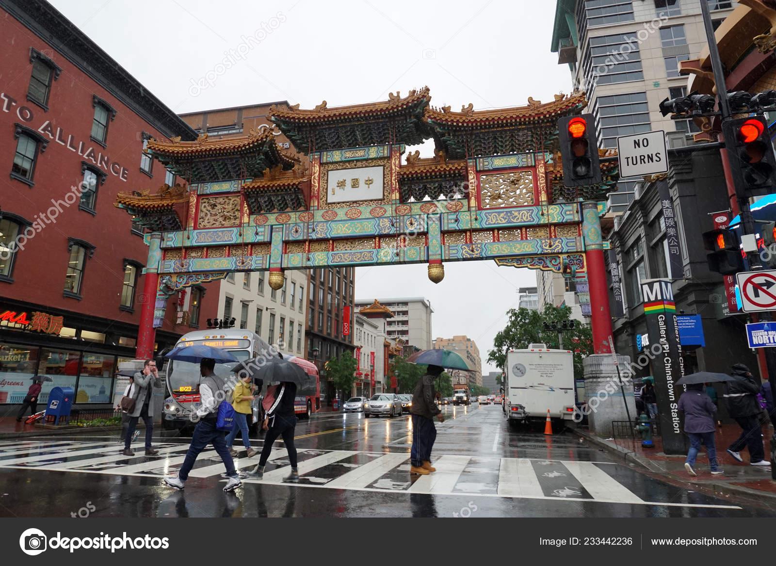 Washington Usa May 2018 Chinatown Small Historic Area