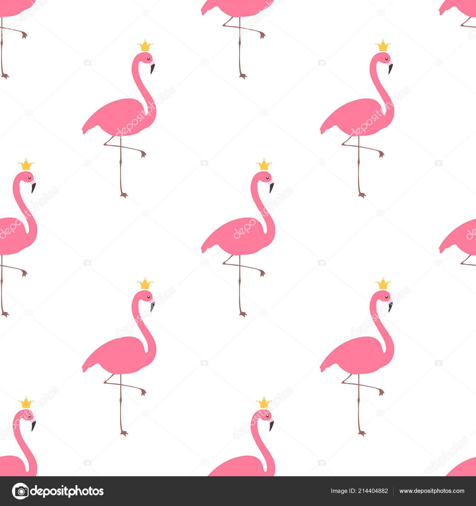 Flamingo with crown pattern — Stock Vektor © El4anes