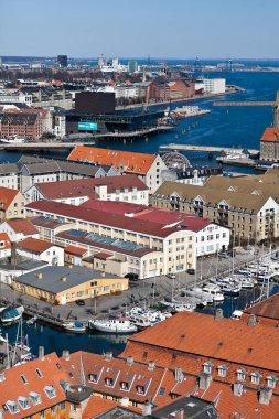Aerial view over Copenhagen, Denmark