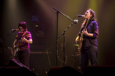 Amsterdam, The Netherlands - 22 October 2017: Concert of American alternative rock band the Breeders formed in 1989 by Kim Deal of the Pixies, at Venue Melkweg in Amsterdam