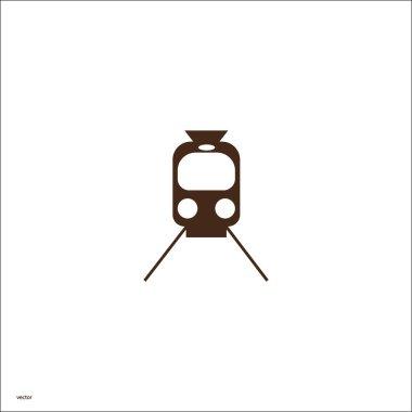 Simple train icon vector illustration